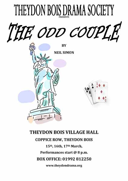 TB Drama Society Poster the Odd Couple
