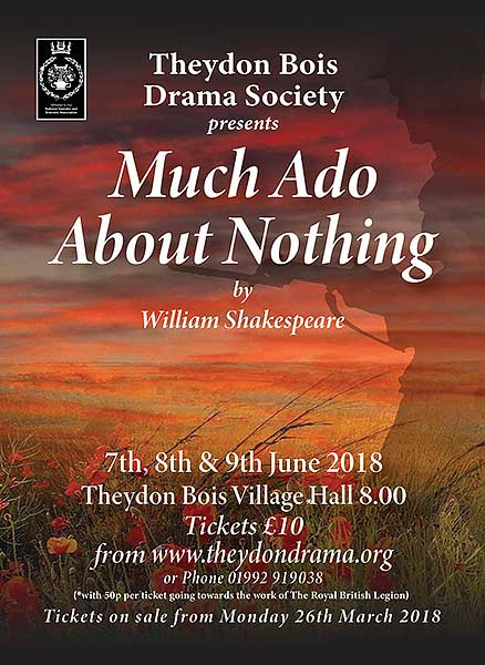Drama Society  Much a do about nothing poster