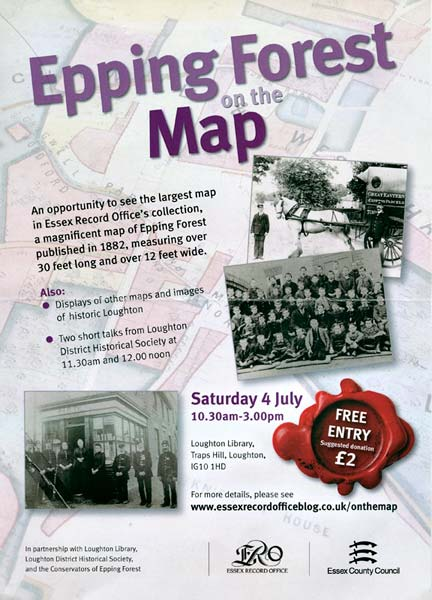 Epping Forest Map Poster