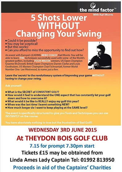 Theydon Bois Golf Club Event