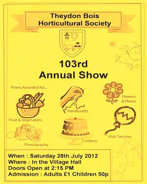 Horticultral Society Show Poster