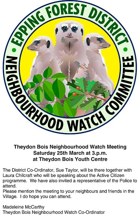 Neigbourhood Watch Poster