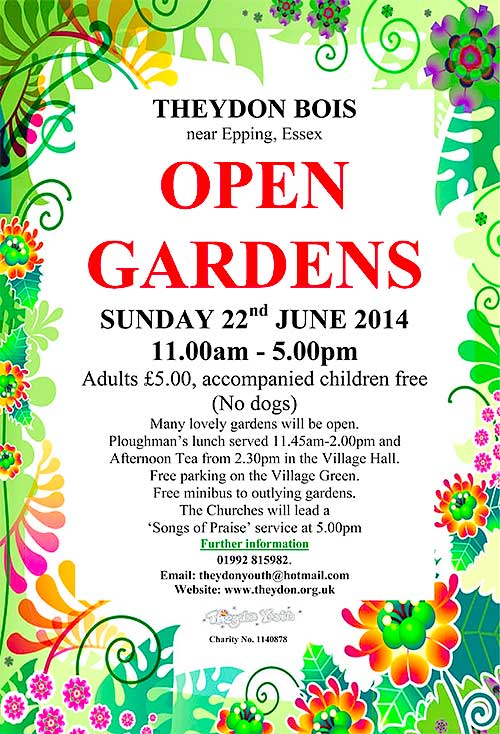 Open Gardens Day 2014 Poster