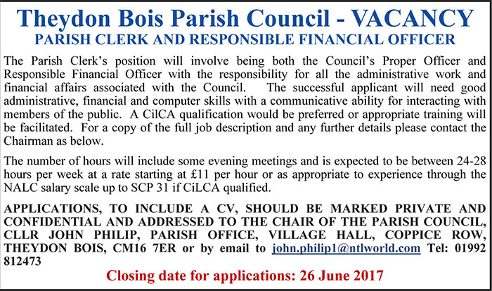 Parish Clerk Job Vacancy