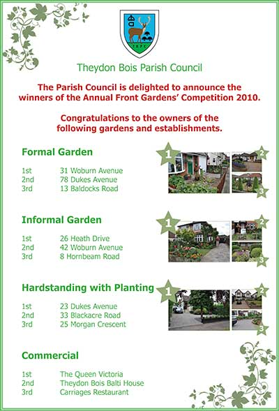Gardens Competition Winners