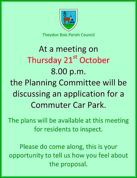 Poster for Car Park Meeting