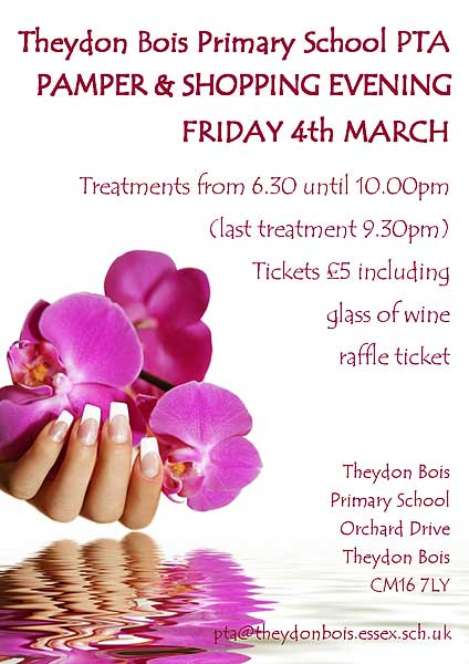Primary School Pamper Evening poster