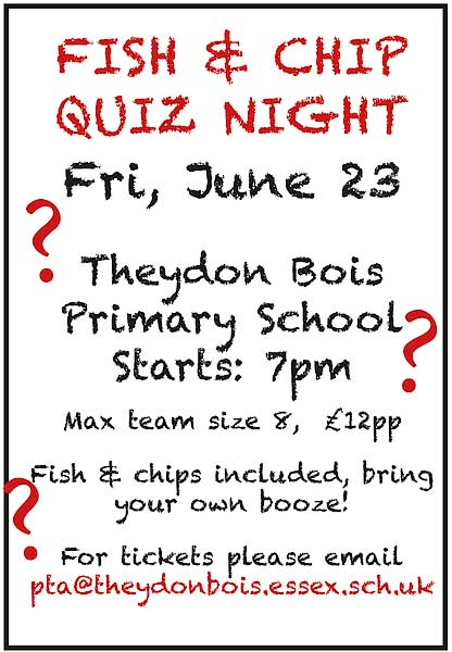 Primary School Quiz night Poster