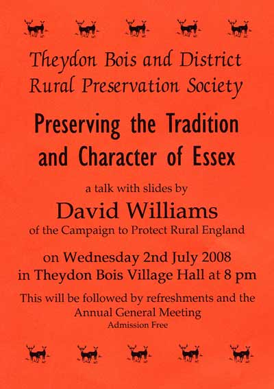 Preservation Society talk