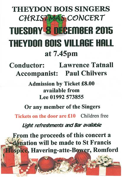 Theydon Bois Singers Concert