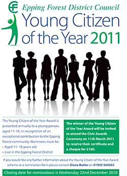 Young Citizen of the year poster