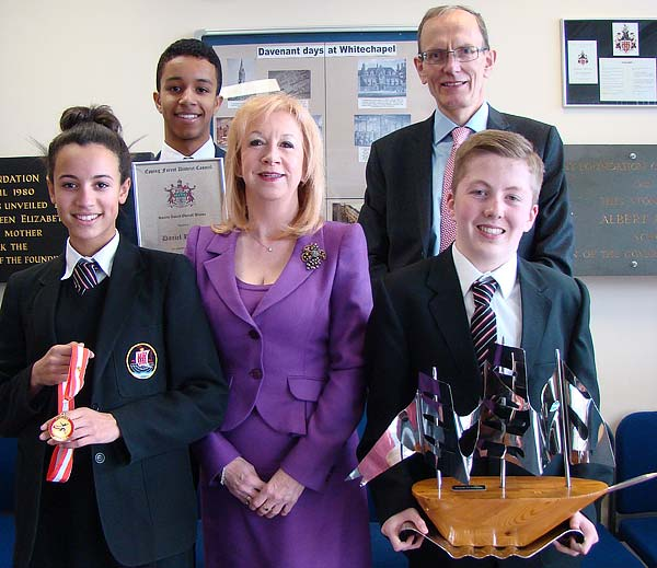 Eleanor Laing MP and Davenant Students