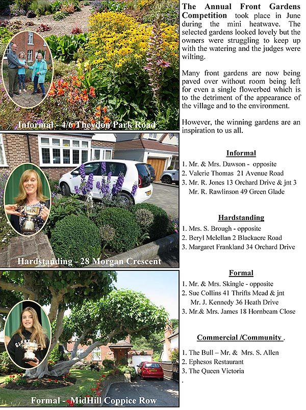 Front Gardens Competition Winners info