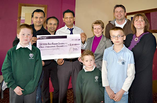 Indian Ocean Cheque Presentation